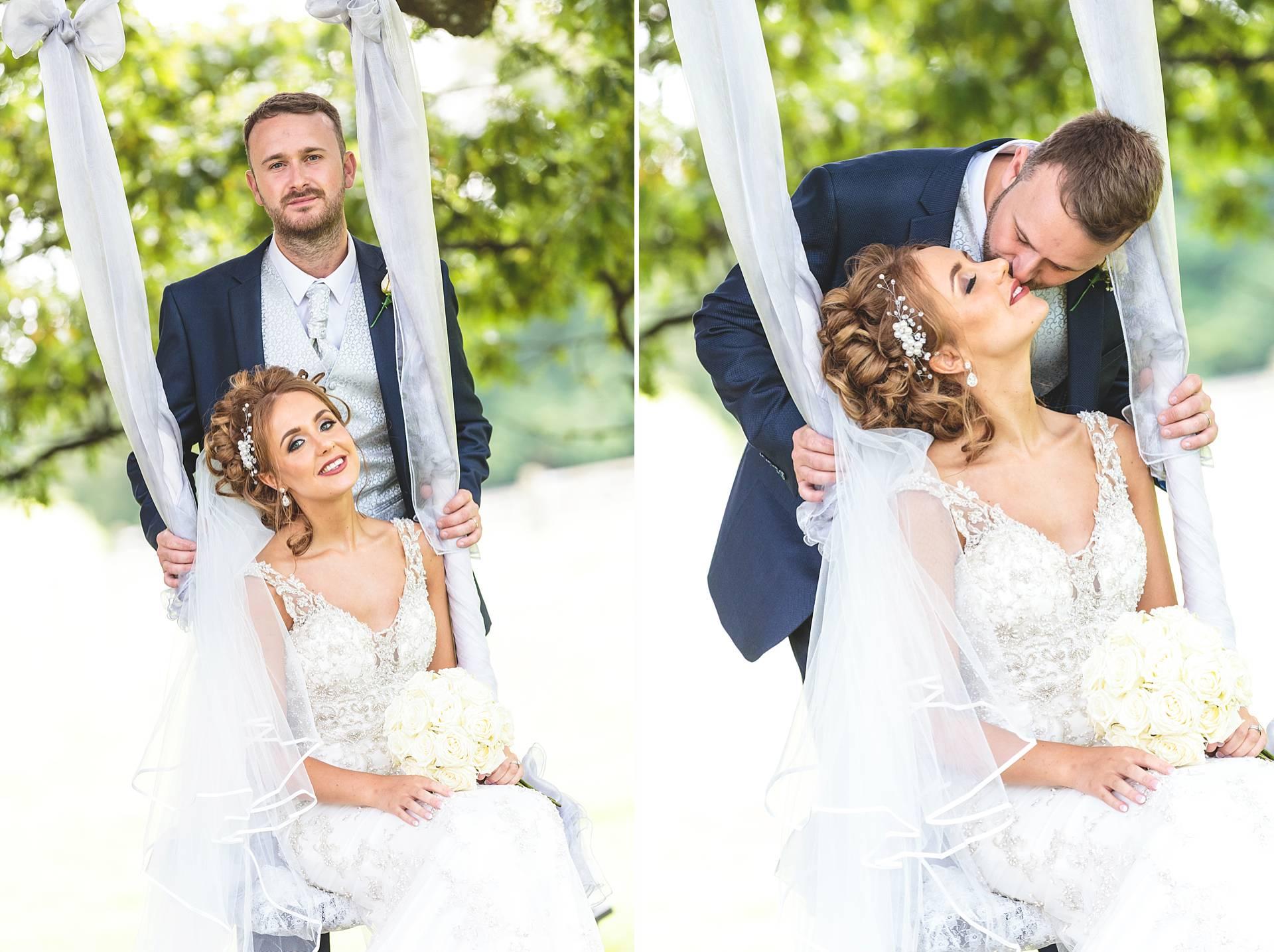 singleton lodge wedding bride and groom
