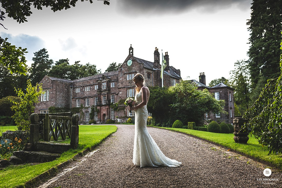 beautiful bride photo Browsholme Hall and Tithe Barn
